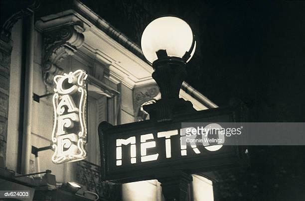 paris street signs - paris metro sign stock pictures, royalty-free photos & images