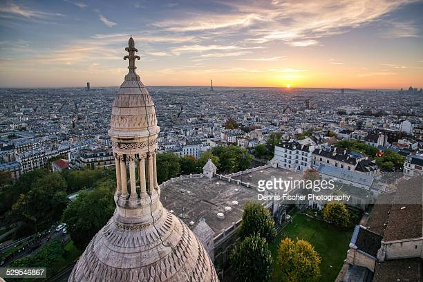 Paris sunset view from Sacre Coer
