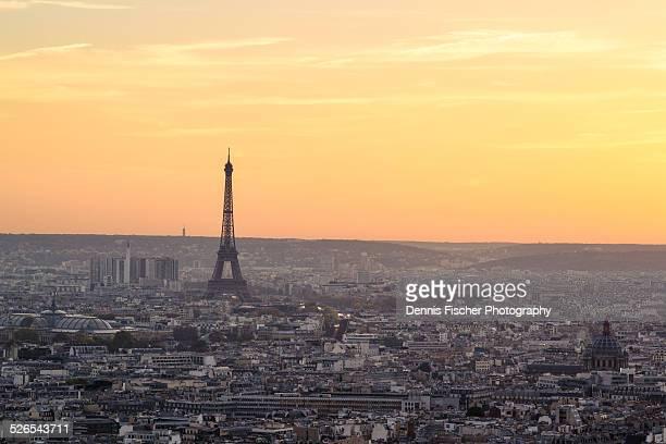 Paris sunset view Montmartre