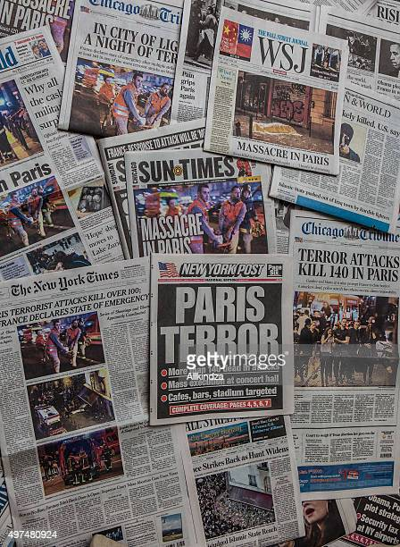 Paris Terror Attack headline collage