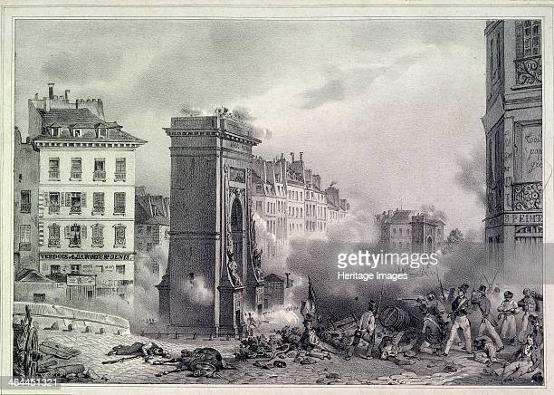 Paris The July Revolution of 1830 1830 Found in the collection of the A Pushkin Memorial Museum St Petersburg