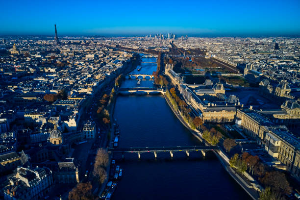 Paris, the Louvre and the Seine