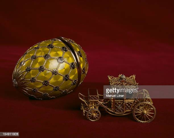 Paris the Musee des Arts Decoratifs presents the creations of jeweler Karl Faberge in an exhibition 'Faberge goldsmith of the Tsars' Imperial egg at...