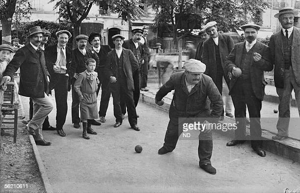 Paris The play bowls OlivierdeSerres street about 1900
