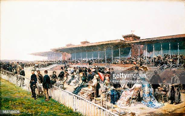 Paris the Races at Longchamp by Ludovico Marchetti