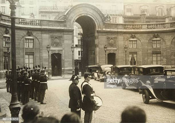 Paris The Republican Guard during the New Year's Reception of the President Albert Lebrun leaving the Elysée Palace 1st January 1935 Photograph