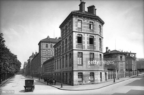 Paris The secondary school Montaigne AugusteComte street about 1900