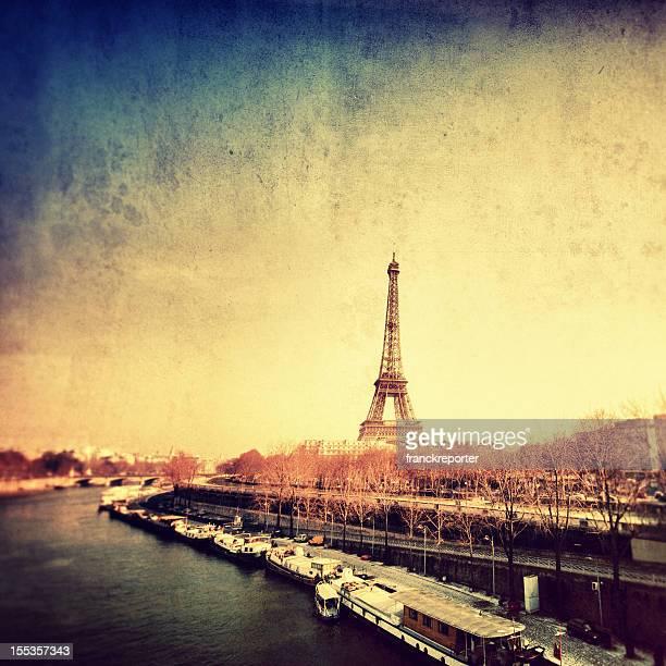Paris Tour Eiffel and the river Senna