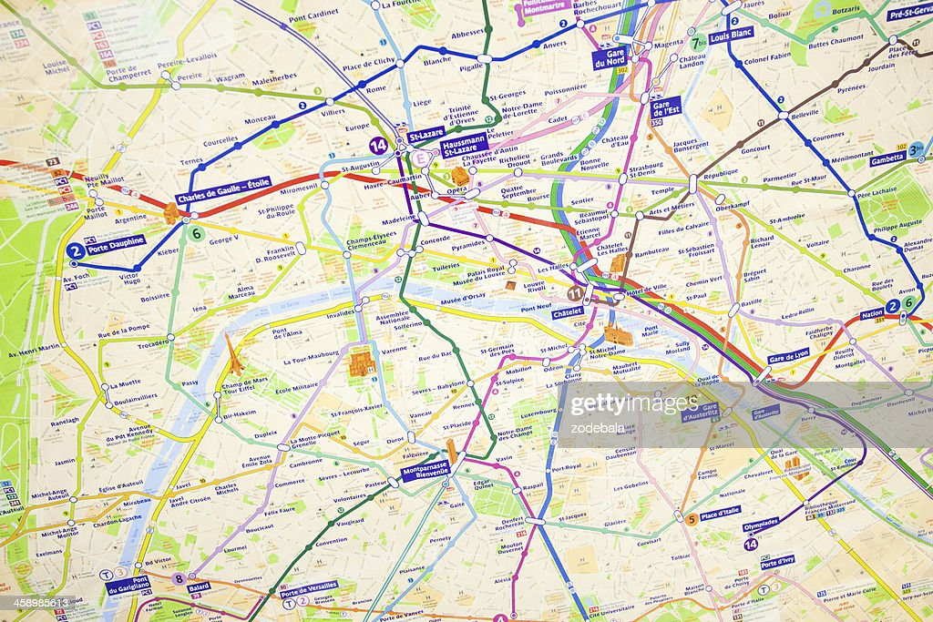 Paris Underground Tube Map Stock Photo | Getty Images