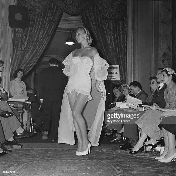 Paris Underwear Fashion Parade In May 1957