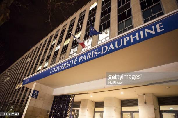 Paris Universite Dauphine Gerard Vespierre Associate Researcher at the Fondation d Etudes pour leOrient speaks in a conference at the Paris Dauphine...