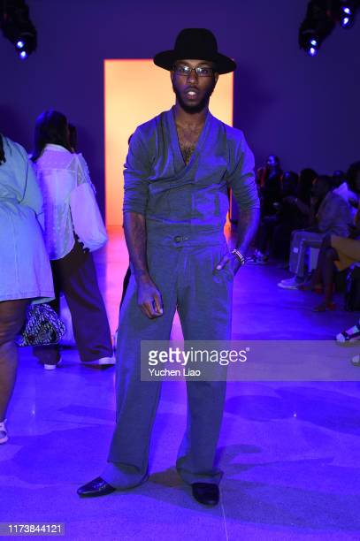 Paris Warren attends Aliette fashion show during New York Fashion Week The Shows at Gallery II at Spring Studios on September 11 2019 in New York City