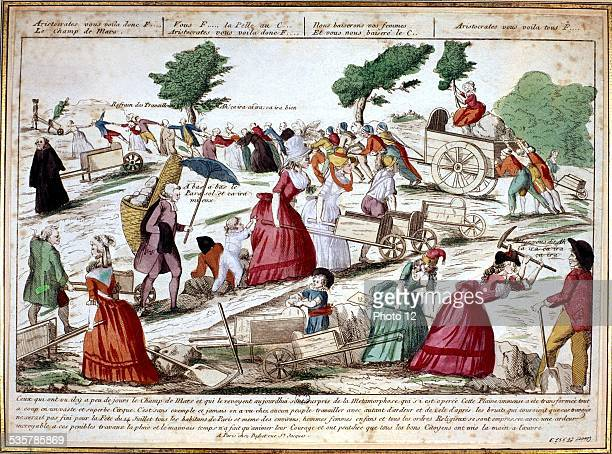 Paris works on the Champ de Mars July 13th 1790 France The 1789 Revolution Paris Musee Carnavalet