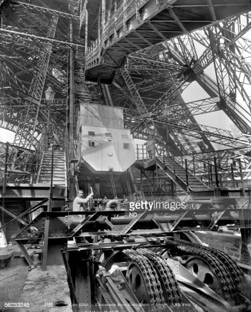 Paris World fair of 1889 Eiffel tower The elevator RouxCombaluzier and Lepape