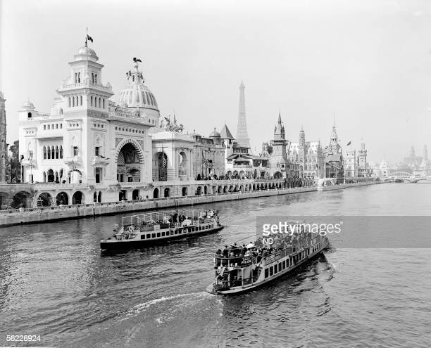 Paris World Fair of 1900 Perspective on the Seine seen from the pont des Invalides