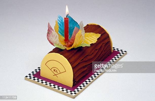 Paris Yule Log Designed By Karl Lagerfled On December 1994