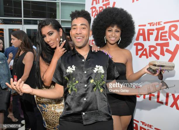 Parisa Amiri Kyle Harvey and LA Love The Boss attend Netflix's 'The After Party' special screening on August 15 2018 in Los Angeles California
