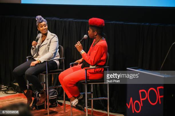 ParisAlexa and Catherine HarrisWhite speak at the GRAMMYPro Songwriter's Summit at Museum of Pop Culture on April 30 2017 in Seattle Washington