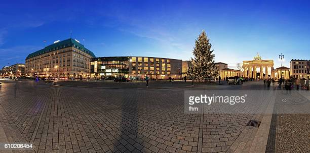 Pariser Platz / Brandenburg Gate, Berlin at blue hour and with christms tree