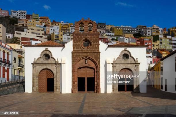 parish church iglesia de nuestra senora de la asuncion, san sebastian de la gomera, la gomera, kanarische inseln, spanien - spanien - fotografias e filmes do acervo