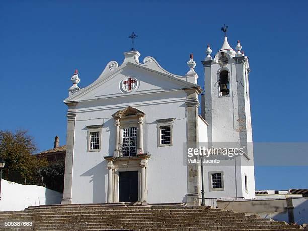 parish church of estoi, algarve - faro city portugal stock photos and pictures