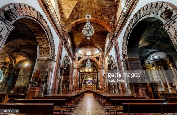 parish church of san miguel, san miguel de allende, guanajuato state, mexico - san miguel de allende fotografías e imágenes de stock