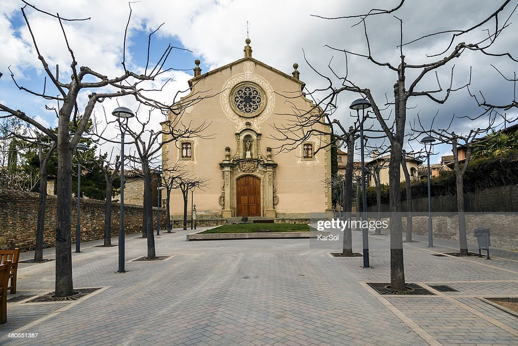 Parish Church of Sant Genis, Spain : Stock Photo