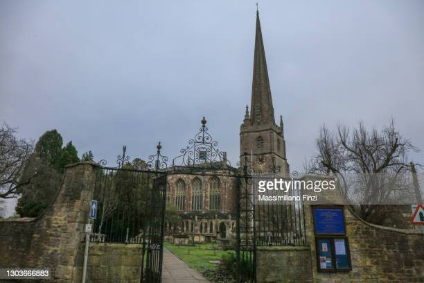 parish church of st mary the virgin in tedbury - gloucestershire stock pictures, royalty-free photos & images
