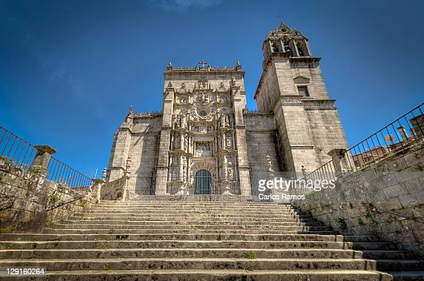parish church - pontevedra province stock photos and pictures