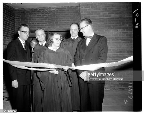 Parish hall dedication Trinity Lutheran January 10 1954 Reverend IF Hodde AG Hertz building committee chairmanJudy Hodde 13 yearsArthur Lange Al Beck...