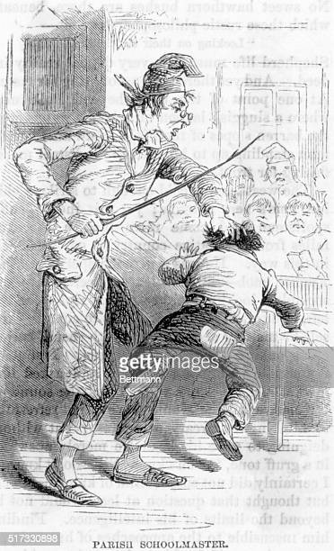 Parish schoolmaster spanking child Undated engraving BPA2