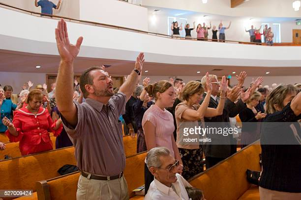 Parishioners at Sunday services at the Bethel Assembly of God church in Lake Worth Florida During the Bush era many evangelicals supported the...