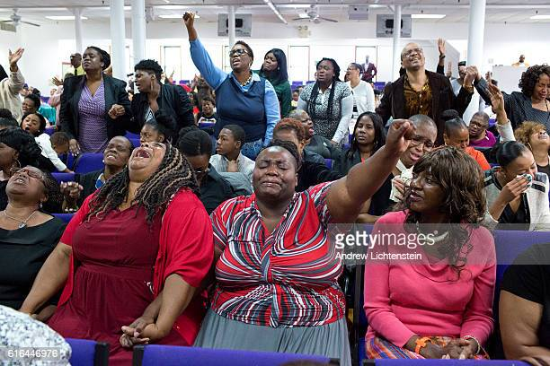 Parishoners mark the National day of Remembrance for Murder Victims at Love Fellowship Tabernacle in East New York Brooklyn on September 25 2016 Many...