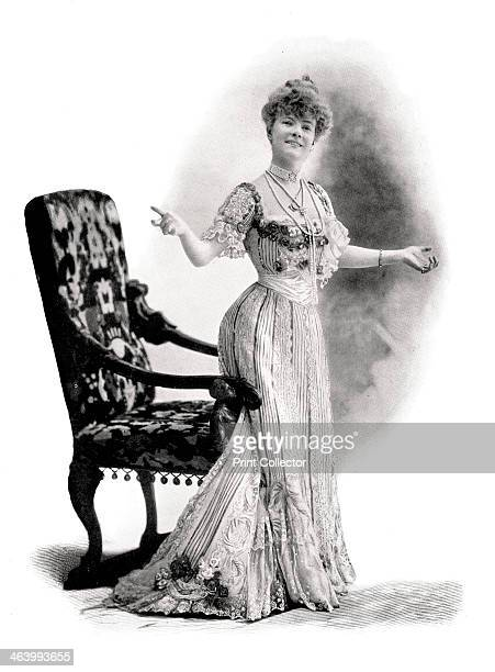 'A Parisian Actress Mademoiselle Charlotte Wiehe' 1901 Marie Charlotte WieheBereny Danish actor and singer Illustration from The Process Year Book A...