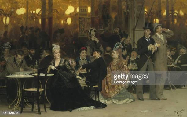 Parisian Café 1875 From a private collection