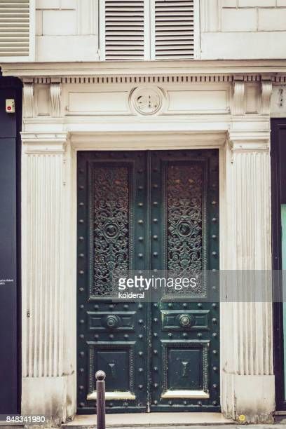 Parisian classic double door dark green color