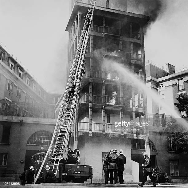 Parisian Firemen Training On May 15Th 1961