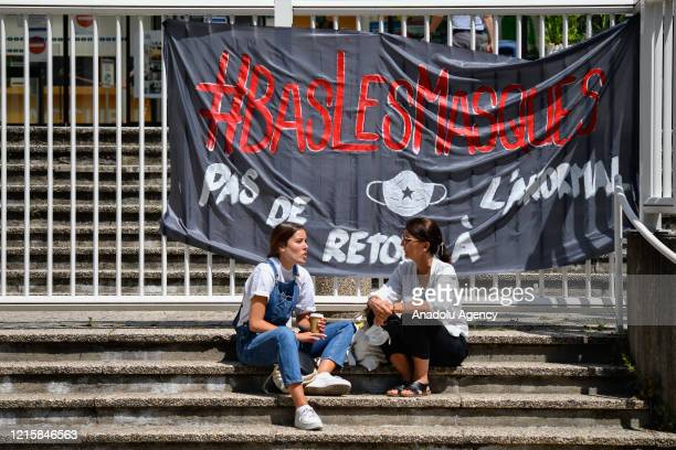 Parisian Healthcare workers gather in front of the Robert Debre hospital to call for better working conditions and an increase of manpower as French...