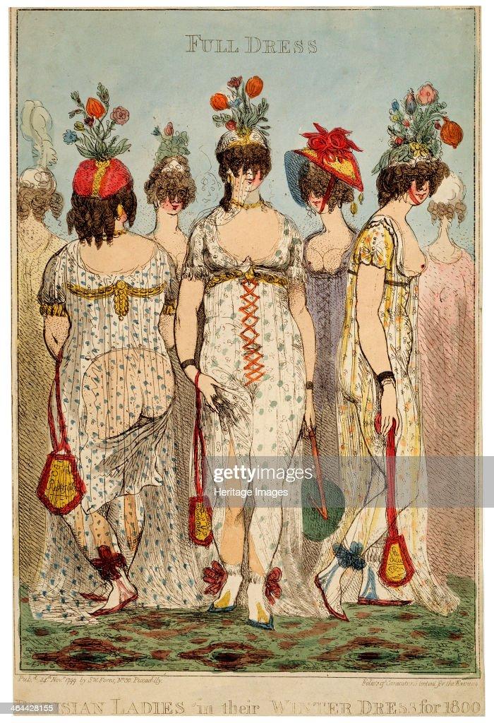 'Parisian Ladies in their Full Winter Dress for 1800', 1799. Artist: James Gillray : News Photo