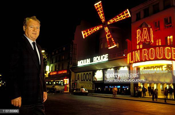 Parisian Prince of the night in Paris France in November 1993 Jacky Clerico in front of the Moulin Rouge