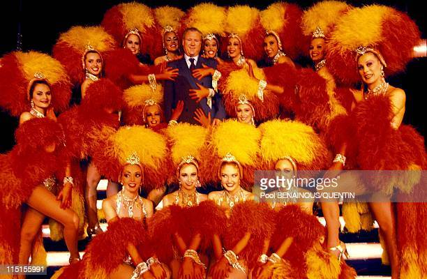 Parisian Prince of the night in Paris France in November 1993 Moulin Rouge Jacky Clerico and his dancers