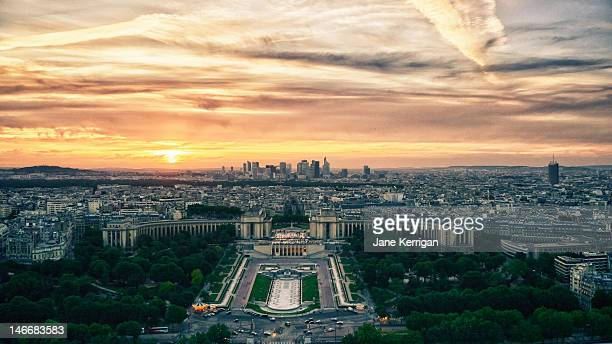 Parisian sunset taken from Eiffel tower