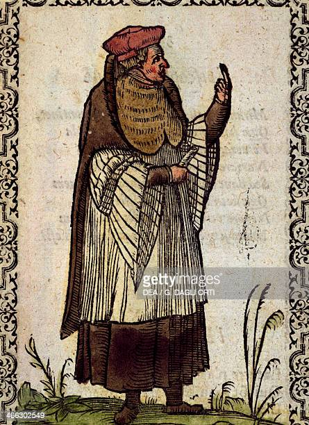 Parisian theologian engraving from Sluperii Omnium fere gentium nostraeque Aetatis nationum habitus et effigies et eosdem in Epigrammata by Jacobus...