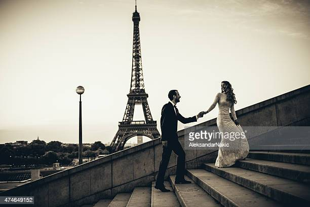 parisian wedding - marriage stock pictures, royalty-free photos & images