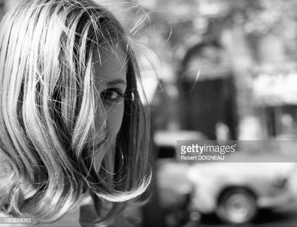 Parisian woman, 1969 in Paris, France.