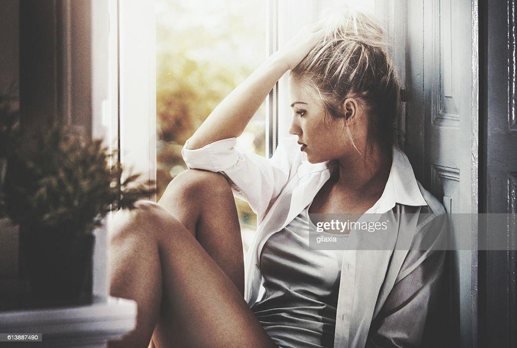 Parisian woman. : Stock Photo