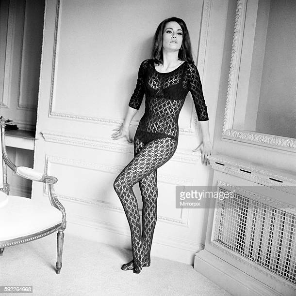 Parisienne actress Claudine Auger who will play Domino in the James Bond film Thunderball seen here during an interview with the Daily Mirror show...