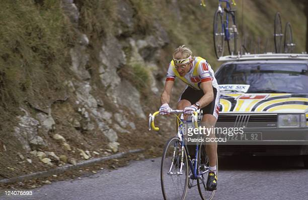 Paris-Nice bicycle race In France On March 15, 1987 - Laurent Fignon.