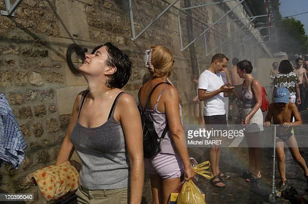 ParisPlage in Paris France in August 2003 Heatwave