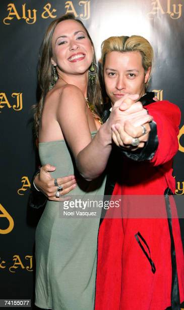 Parisse Boothe and Carlos Ramirez arrive at Aly AJ's Birthday Party at Les Deux nightclub on May 14 2007 in Los Angeles California